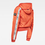 G-Star RAW® Reversible Zip Through Hoodie Orange model back