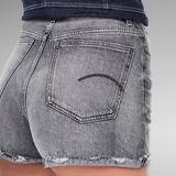 G-Star RAW® Tedie Ripped Edge Ultra High Shorts Grau