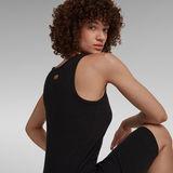 G-Star RAW® Rib Tank Dress Slim Black
