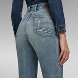 G-Star RAW® Kafey Ultra High Skinny Ripped Edge Ankle Jeans Light blue