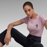 G-Star RAW® Slim Fit Tulip Print Tee Purple