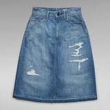 G-Star RAW® 3301 A-Line Midi Ripped Edge Skirt Light blue