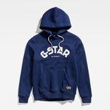G-Star RAW® Varsity Felt Hooded Sweatshirt Dunkelblau flat front