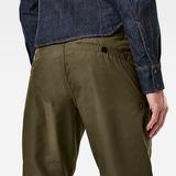 G-Star RAW® Pantalon 3D Relaxed Cuffed Trainer Vert model back zoom