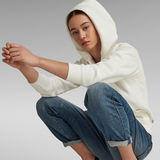 G-Star RAW® Premium Core Hooded Zip Through Sweater White