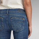 G-Star RAW® Jean Midge Zip Mid-Waist Skinny Bleu foncé