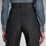 G-Star RAW® Deck Ultra High Wide Leg Jeans Black