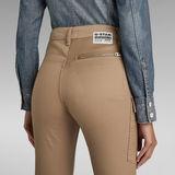 G-Star RAW® Pantalon High G-Shape Cargo Skinny Beige