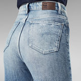 G-Star RAW® Tedie Ultra High Straight Ripped Edge Ankle Jeans Light blue