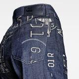 G-Star RAW® Jean E Tedie Ultra High Straight Bleu foncé