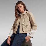 G-Star RAW® Cropped Field Jacket Beige