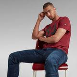 G-Star RAW® Layered 89 Graphic T-Shirt Red