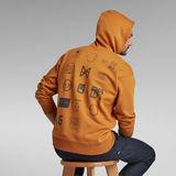 G-Star RAW® Multi Logo Back Hoodie Yellow