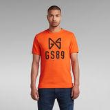 G-Star RAW® T-shirt Butterfly Logo Orange