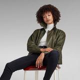 G-Star RAW® Vintage Short Leather Jacket Green