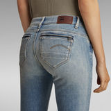 G-Star RAW® Midge Zip Mid SkinnyJeans Midden blauw