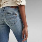 G-Star RAW® Midge Zip Mid SkinnyJeans Mittelblau