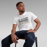 G-Star RAW® T-shirt Originals Logo Blanc