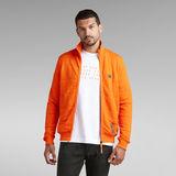 G-Star RAW® Square Quilted Zip Through Sweater Orange