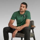 G-Star RAW® T-Shirt Badge Logo + Green