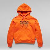 G-Star RAW® Premium Core Originals Logo Hoodie Orange