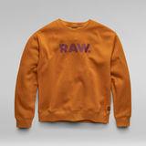 G-Star RAW® Premium Core RAW. Col ras du cou Jaune