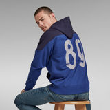 G-Star RAW® 89 Logo Block Hoodie Medium blue
