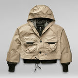 G-Star RAW® Cropped 2 In 1 Jacket Brown