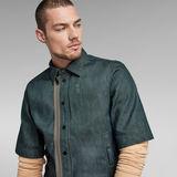 G-Star RAW® GSRR Cropped Lined Shirt Dark blue