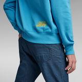 G-Star RAW® Unisex Disco Chest Hoodie Medium blue