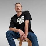 G-Star RAW® Unisex Radio Boxy  T-Shirt Black