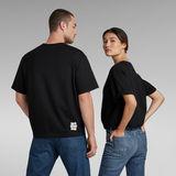 G-Star RAW® Unisex Flock Boxy T-Shirt Black