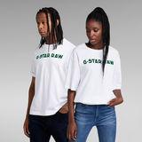 G-Star RAW® Unisex Flock Boxy T-Shirt White