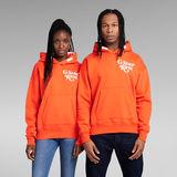 G-Star RAW® Unisex Foxy Chest Hoodie Orange