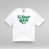 G-Star RAW® Unisex Foxy Boxy T-Shirt White