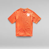 G-Star RAW® Unisex Radio Chest Boxy T-Shirt Orange