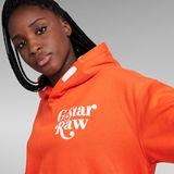 G-Star RAW® Sweat à capuche Unisex Foxy Chest Orange