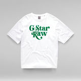 G-Star RAW® T-shirt Unisex Foxy Boxy Blanc