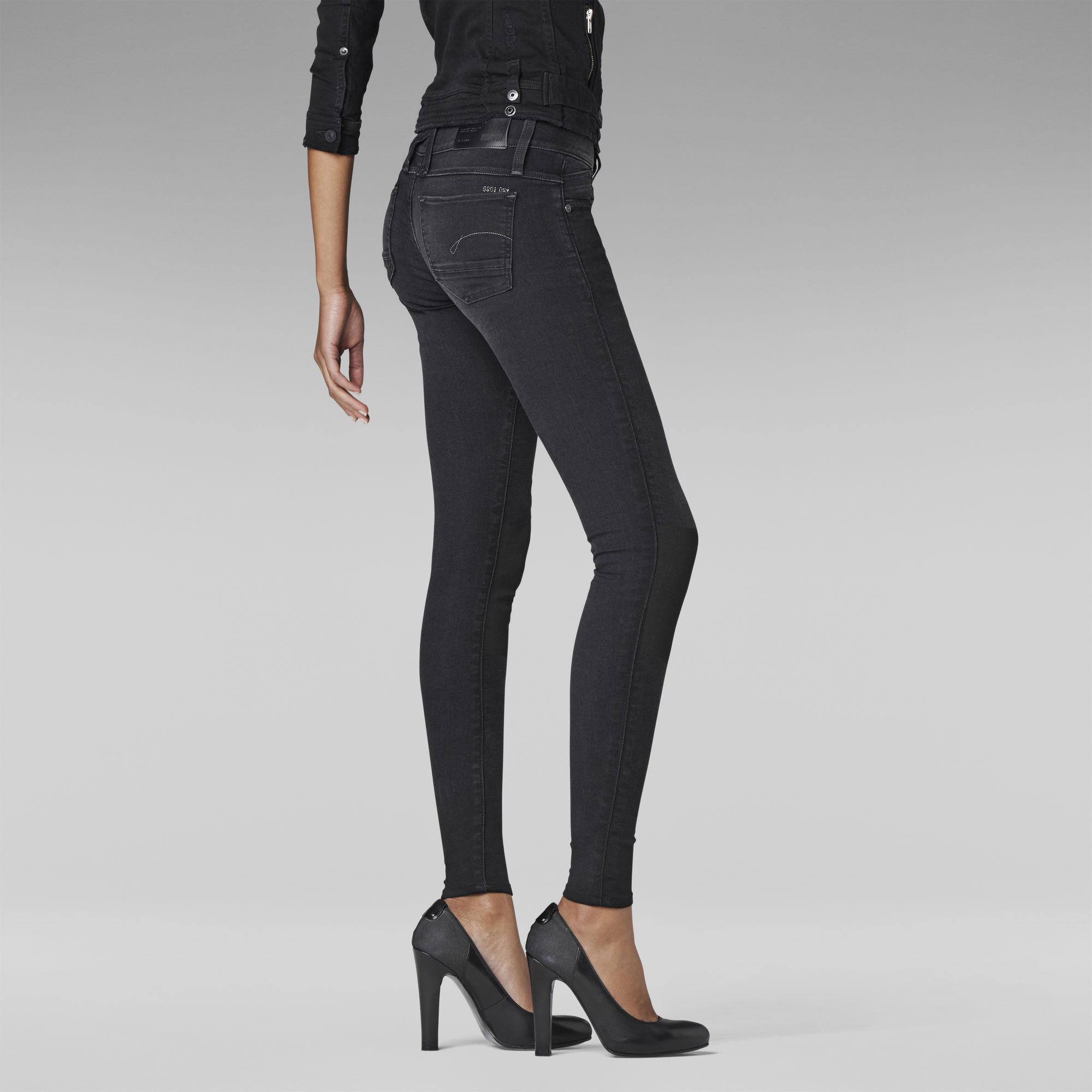Lynn Zip Shablon Skinny Jeans