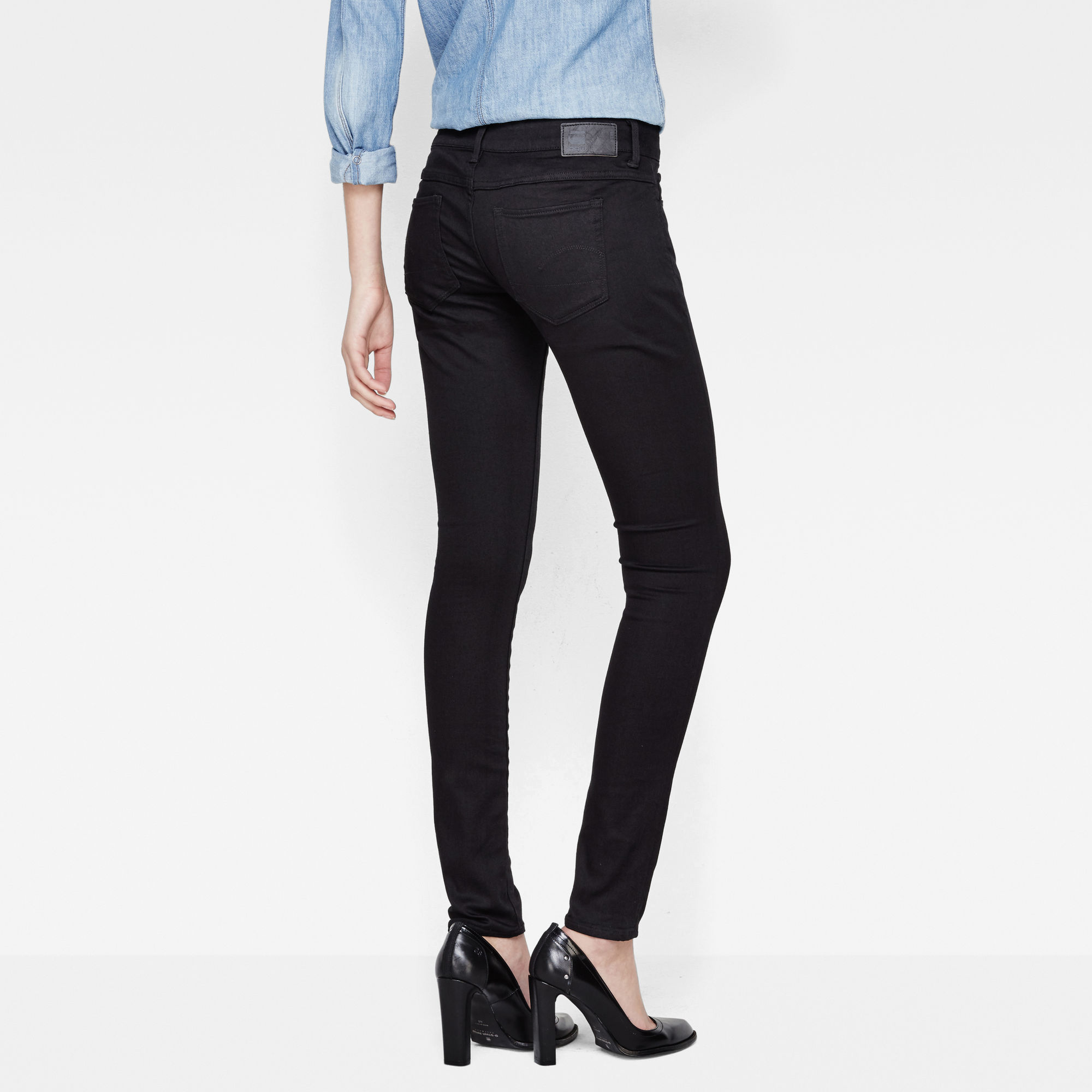 G-Star RAW 3301 Deconstructed Low Waist Super Skinny Jeans