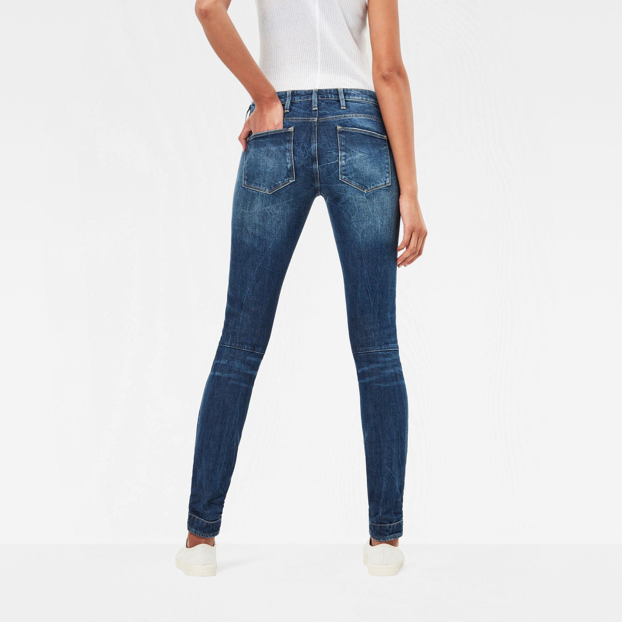 5620 G-Star Elwood Mid Waist Skinny Jeans