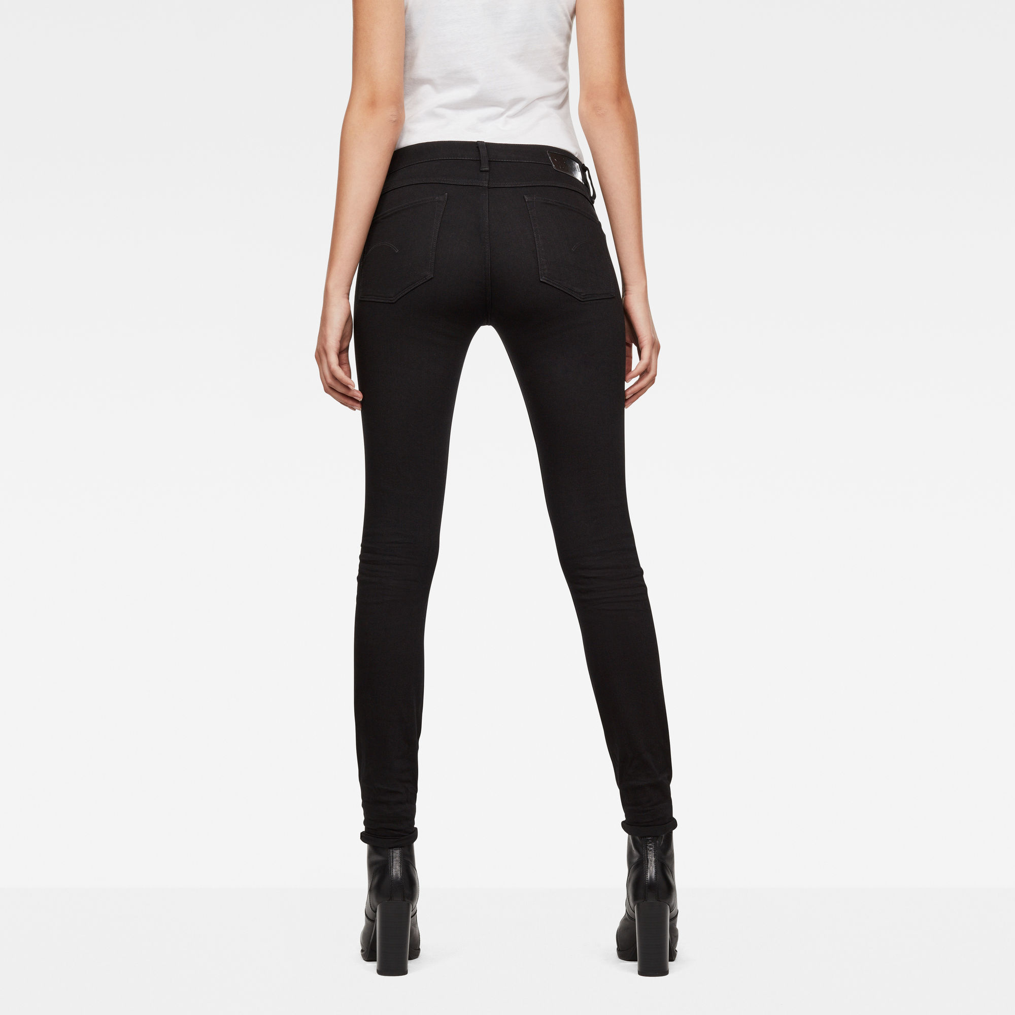 G-Star RAW 3301 Deconstructed Mid-Waist Skinny Jeans