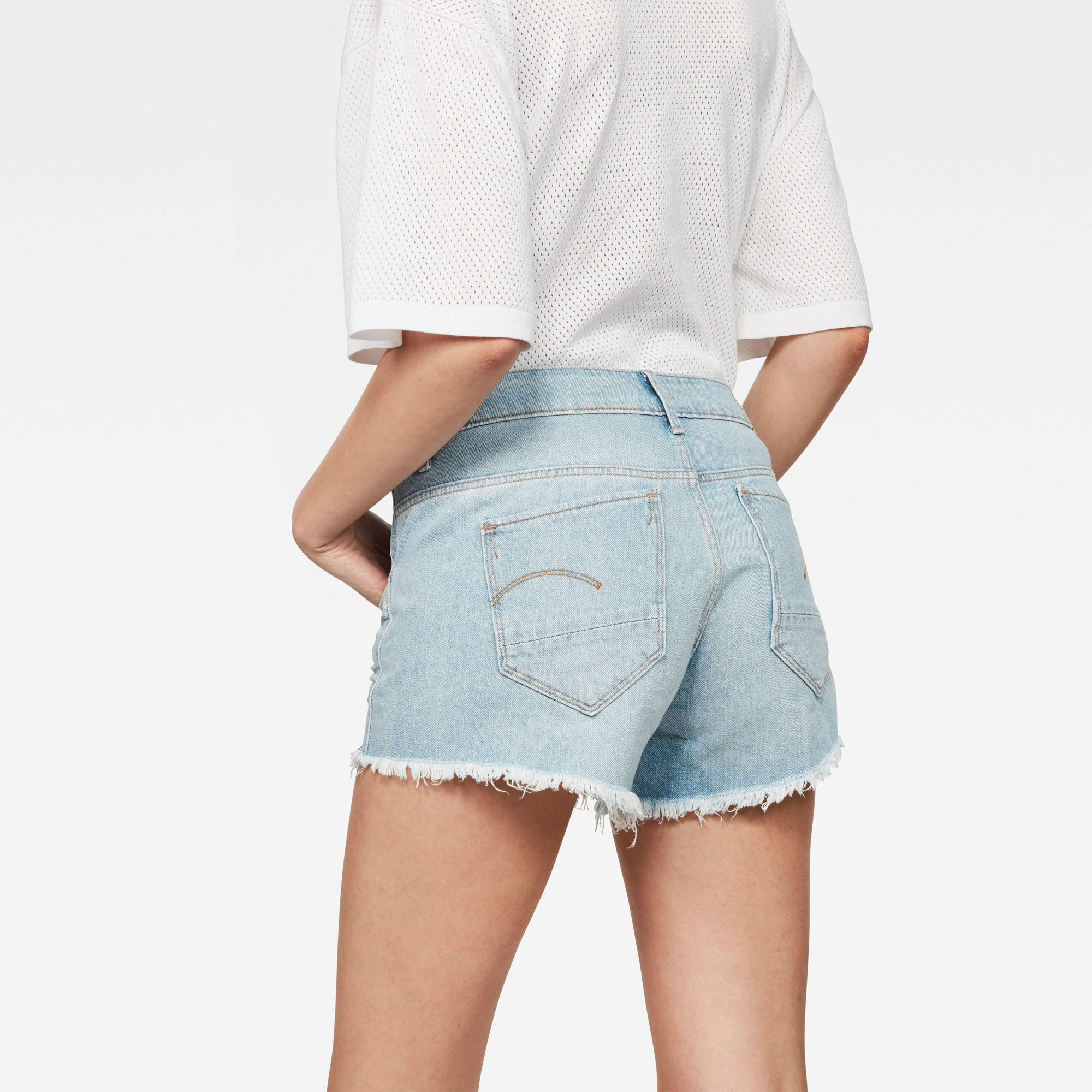 G-Star RAW Arc Mid Waist Ripped Short
