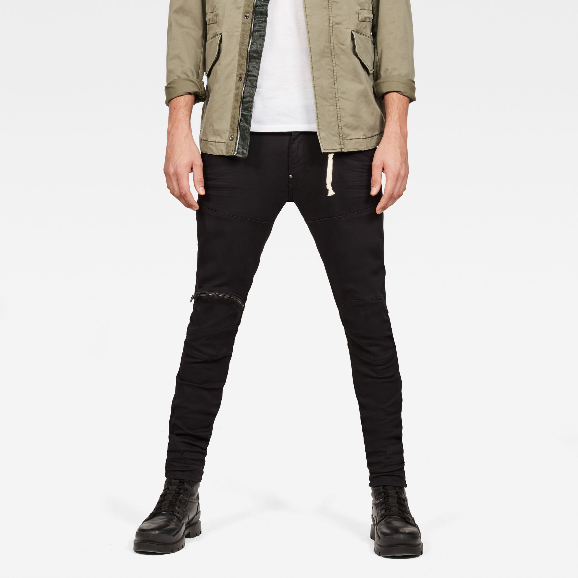5620 3D Zip Knee Super Slim Jeans