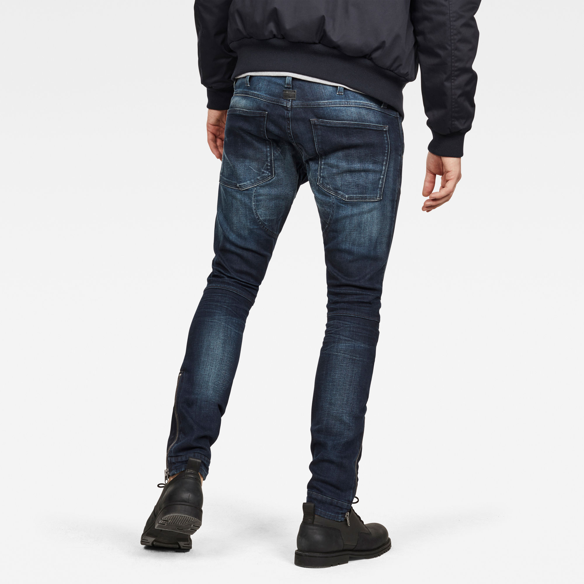 5620 3D Ankle Zip Skinny Jeans