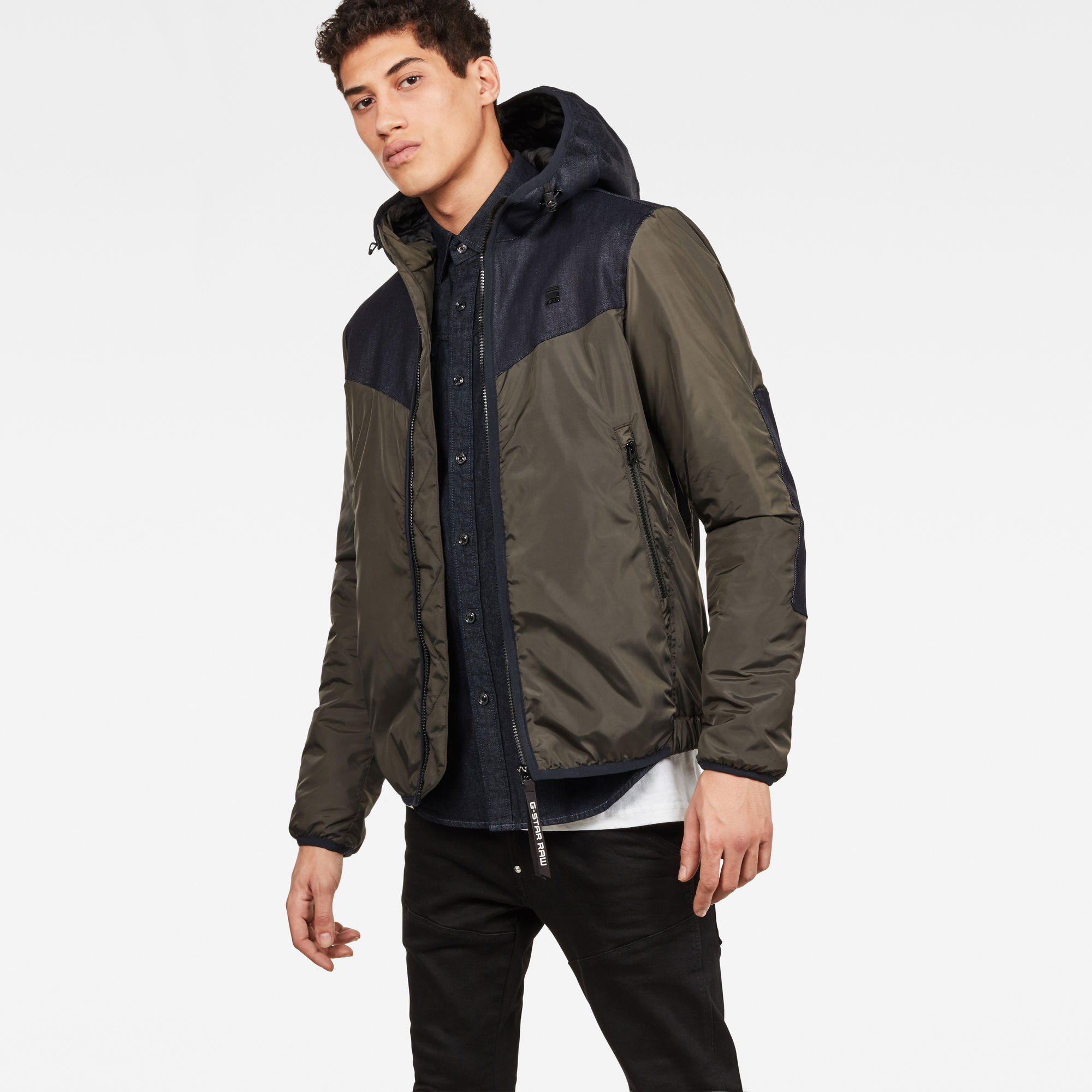 Whistler Hooded Slim Hedley | Forest Night | Dames | G Star RAW®