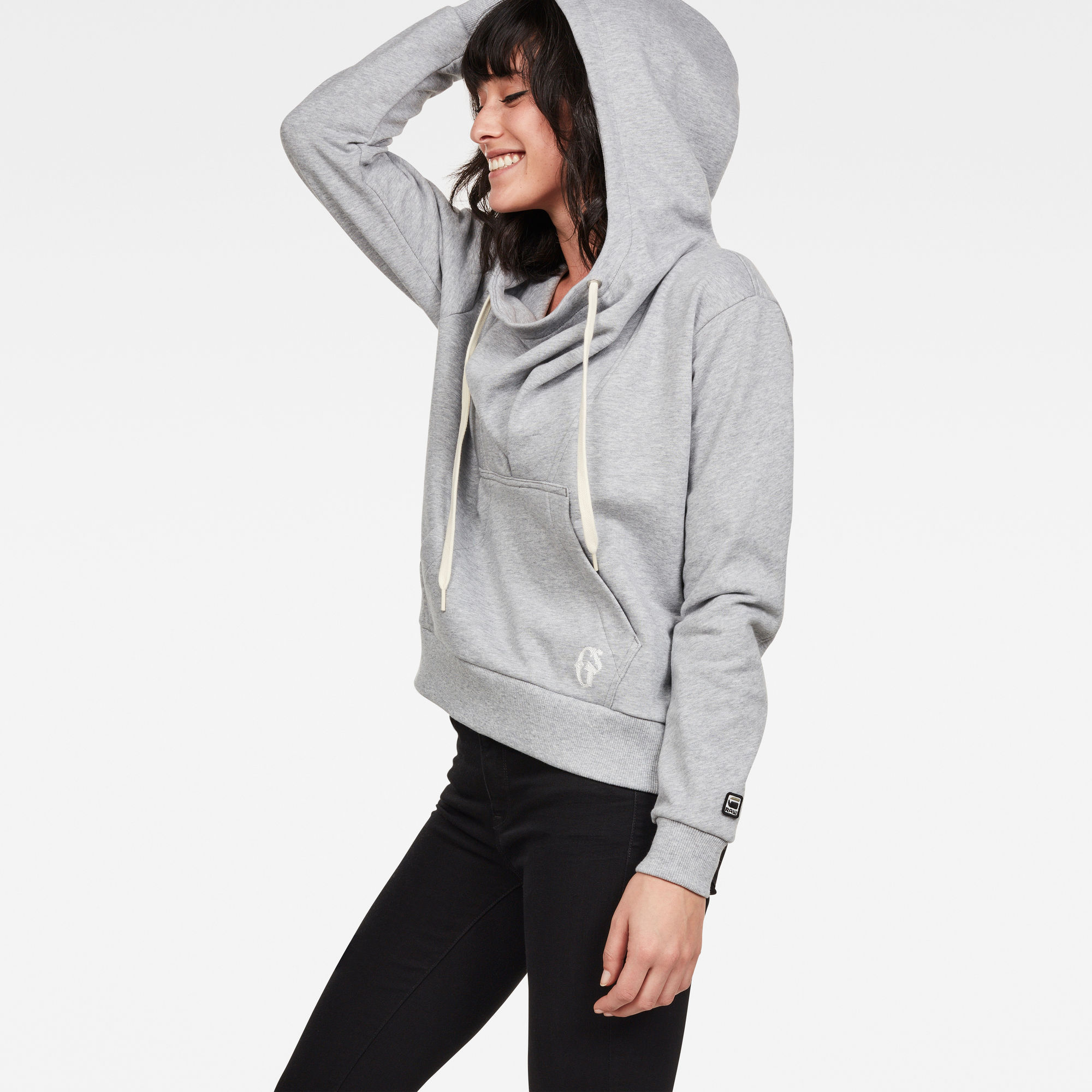 Sofe Boyfriend Drape Hooded Sweat