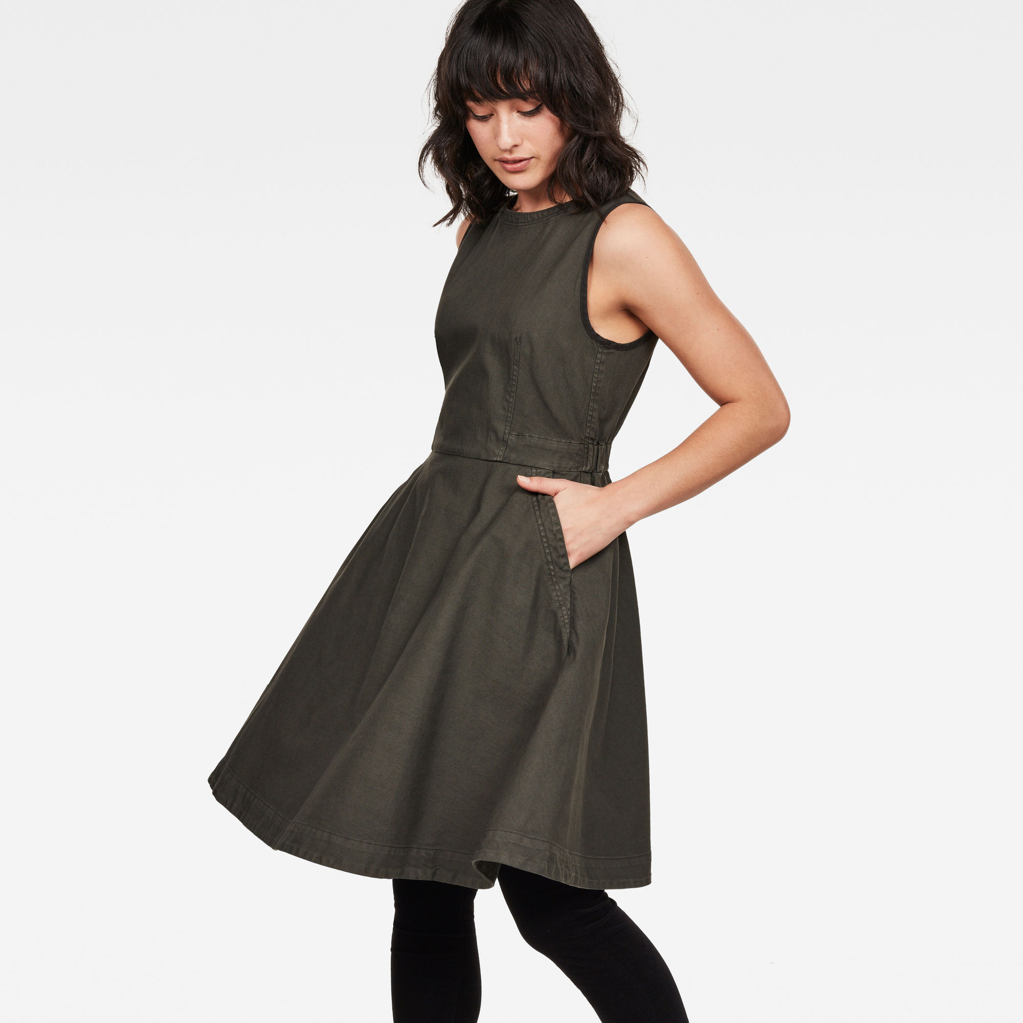 G-Star RAW Core Fit And Flare Dress