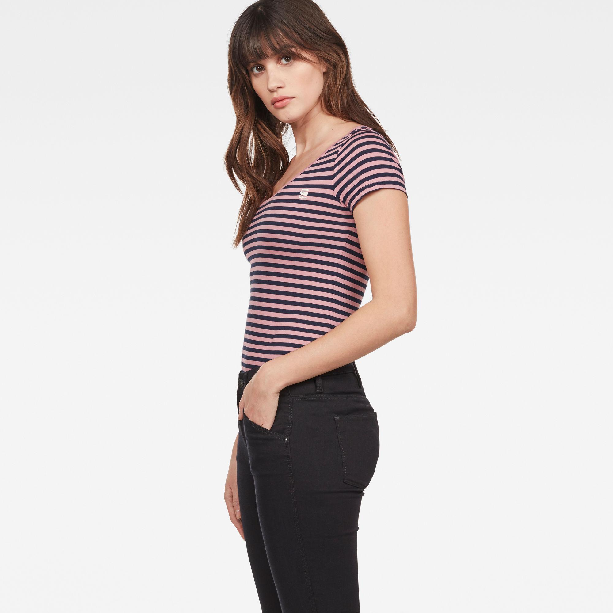 Basic Stripe Slim T-Shirt