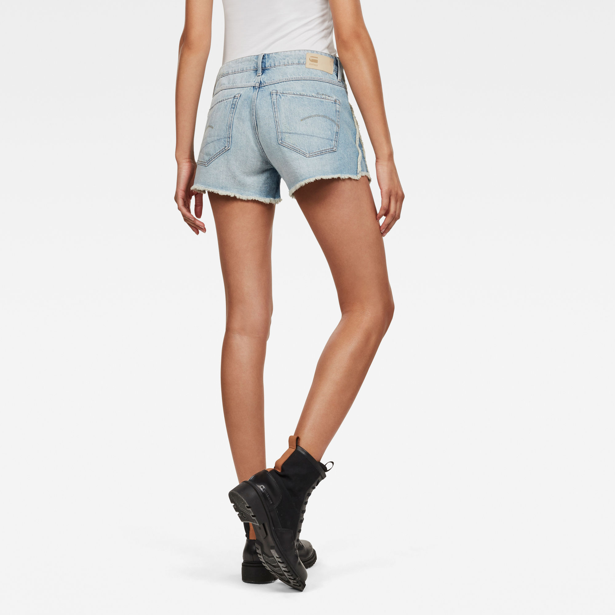 G-Star RAW 3301 Fringe Mid Boyfriend Short